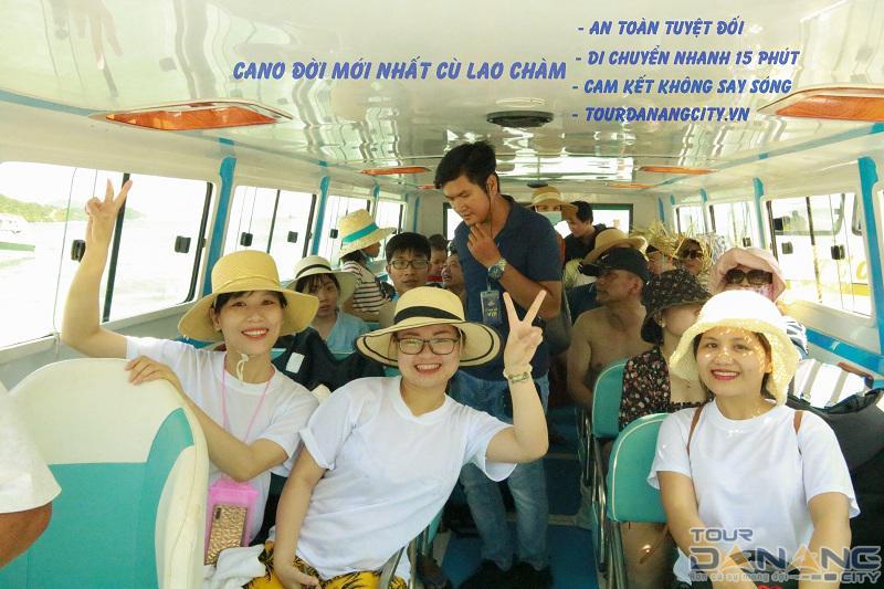 Cano du lịch Cù Lao Chàm Đà Nẵng