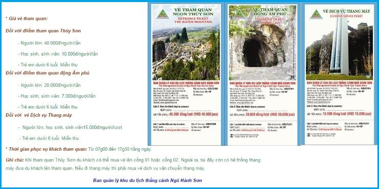Vé tham quan Ngũ Hành Sơn trong tour Đà Nẵng Hội An
