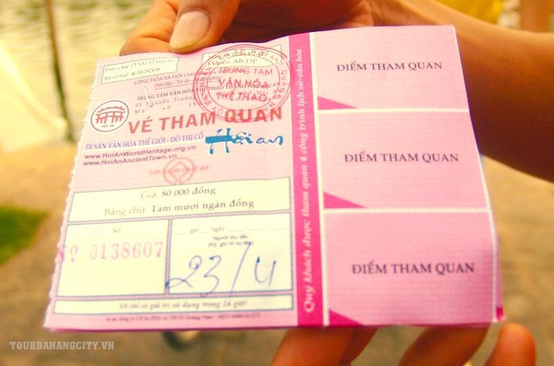 Vé tham quan 80k trong tour Đà Nẵng Hội An 1 ngày