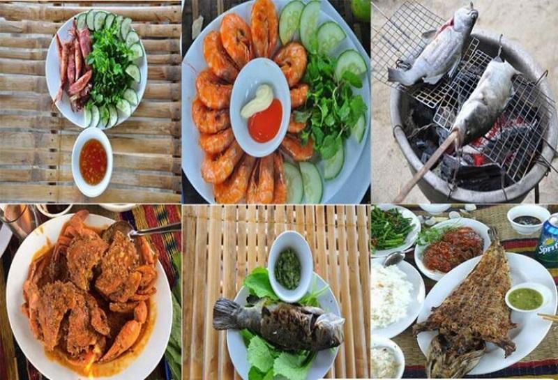 món ăn rừng dừa bảy mẫu hội an